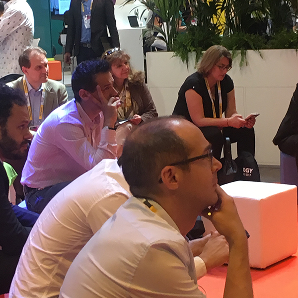 Fuel50's Anne Fulton and Jo Mills exhibit at the 2017 VIVATech in Paris
