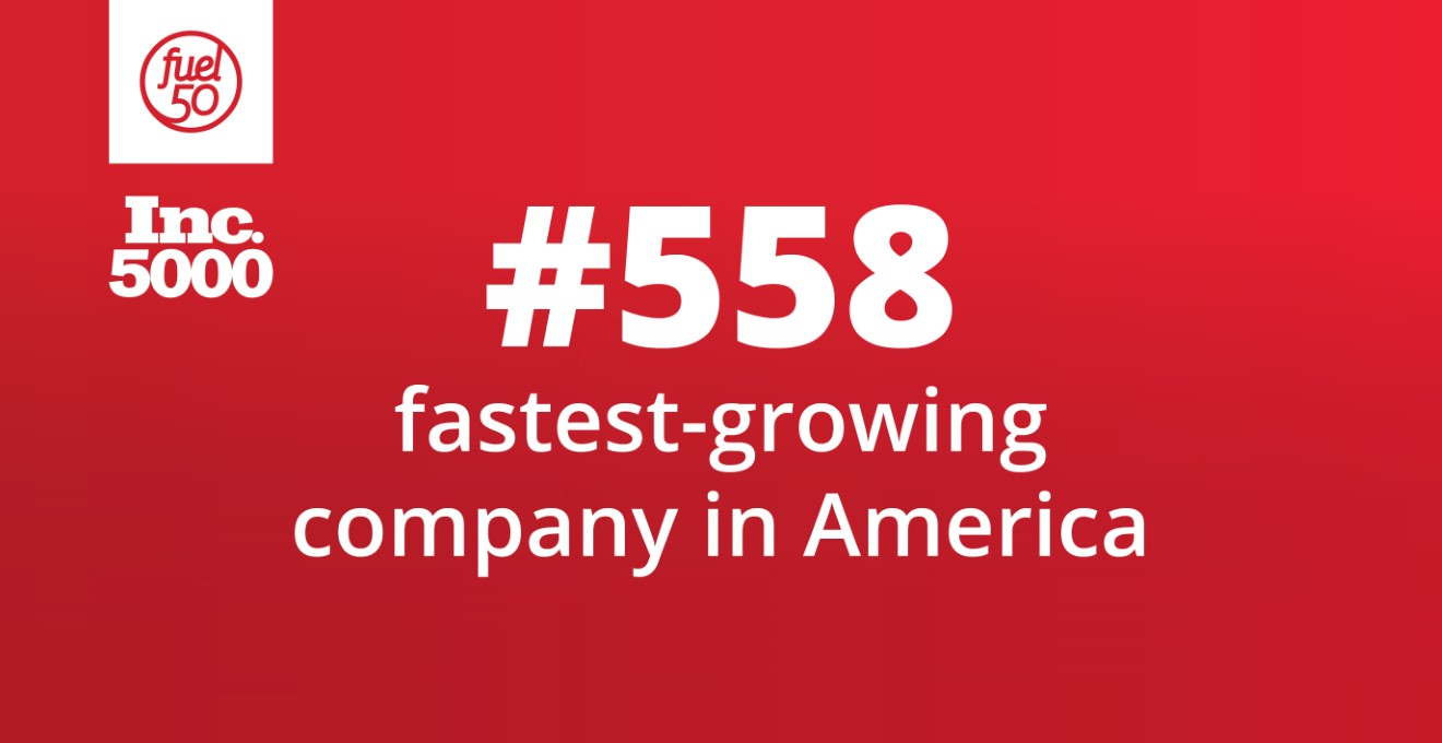 Inc. 5000 #558 fastest-growing company in America